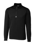 Women's Cutter & Buck Traverse Half-Zip Jersey Knit Black Thumbnail