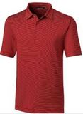 Forge Polo Pencil Stripe Big and Tall Cardinal Red Thumbnail