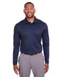Under Armour Mens Corporate Long-Sleeve Performance Polo Midnight Navy Thumbnail