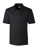 Cutter & Buck Men's DryTec Big & Tall Hamden Jacquard Polo Shirt Black Thumbnail