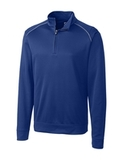 Cutter & Buck Men's Weathertec Big & Tall Ridge Pullover Tour Blue Thumbnail