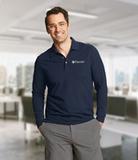 Cutter & Buck Men's Long-Sleeved DryTec Big & Tall Advantage Polo Shirt Liberty Navy Thumbnail