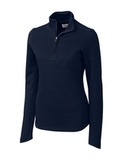 Women's Cutter & Buck Pima Cotton Decatur Pullover Liberty Navy Thumbnail