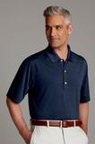 Greg Norman Play Dry Horizontal Textured Polo Shirt Navy Thumbnail