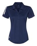 Women's Floating 3-Stripes Sport Shirt Team Navy Blue with White Thumbnail
