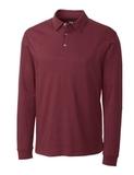 Cutter & Buck Men's Pima Cotton Long Sleeve Belfair Polo Shirt Sleigh Thumbnail