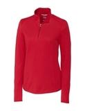 Women's Cutter & Buck Long Sleeve Advantage Mock Turtleneck Cardinal Red Thumbnail