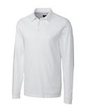 Cutter & Buck Men's Pima Cotton Long Sleeve Belfair Polo Shirt White Thumbnail