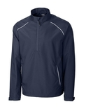 Men's Cutter & Buck Big & Tall WeatherTec Beacon 1/2-Zip Jacket Navy Blue Thumbnail