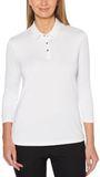 Women's Callaway 3/4 Sleeve Jersey Polo Thumbnail