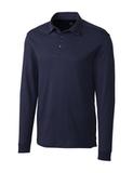 Cutter & Buck Men's Pima Cotton Long Sleeve Belfair Polo Shirt Liberty Navy Thumbnail