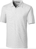 Forge Polo Pencil Stripe Big and Tall White Thumbnail