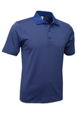 Men's Mini Stripe Polo Royal with Charcoal Thumbnail