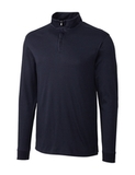 Cutter & Buck Men's Pima Cotton Long Sleeve Belfair Half-Zip Mock Turtleneck Liberty Navy Thumbnail