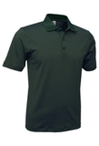 Men's Mini Stripe Polo Dark Green with Charcoal Thumbnail