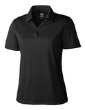Women's Cutter & Buck DryTec Extended Sizes Genre Polo Shirt Black Thumbnail