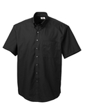 Men's Cutter & Buck Big & Tall Short Sleeve Epic Easy Care Fine Twill Black Thumbnail