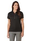 Women's Callaway Ottoman Knit Polo Shirt Black Thumbnail