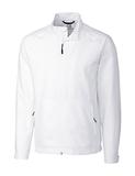 Men's Cutter & Buck WeatherTec Beacon Full Zip Jacket White Thumbnail