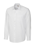 Men's Cutter & Buck Big & Tall L/S Epic Easy Care Spread Nailshead White Thumbnail