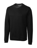 Cutter & Buck Men's Pima Cotton Decatur V-Neck Sweater Black Thumbnail