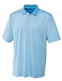 Cutter & Buck Men's DryTec Big & Tall Trevor Stripe Polo Shirt Atlas with White Thumbnail
