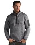 Antigua Men's Fortune Sweater-Knit Half-Zip Smoke Thumbnail