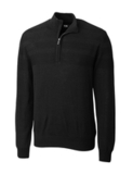 Men's Cutter & Buck Douglas Half Zip Black Thumbnail