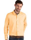 Antigua Men's Structure Dress Shirt TN Orange with White Thumbnail