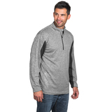 Reebok PlayDry Crossover 1/4 Zip Heather Charcoal Thumbnail