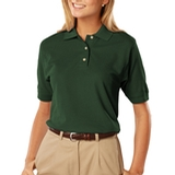 Women's 100 Egyptian Ringspun Cotton Polo Hunter Thumbnail