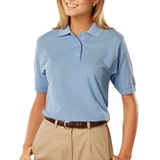 Women's 100 Egyptian Ringspun Cotton Polo Light Blue Thumbnail