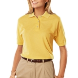 Women's 100 Egyptian Ringspun Cotton Polo Maize Thumbnail