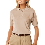 Women's 100 Egyptian Ringspun Cotton Polo Natural Thumbnail