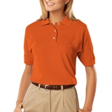 Women's 100 Egyptian Ringspun Cotton Polo Orange Thumbnail