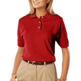 Women's 100 Egyptian Ringspun Cotton Polo Red Thumbnail