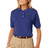Women's 100 Egyptian Ringspun Cotton Polo Royal Thumbnail