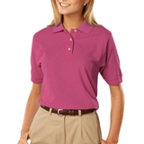 Women's 100 Egyptian Ringspun Cotton Polo Sangria Thumbnail