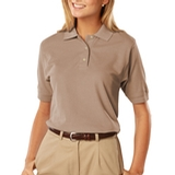 Women's 100 Egyptian Ringspun Cotton Polo Tan Thumbnail