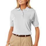 Women's 100 Egyptian Ringspun Cotton Polo White Thumbnail
