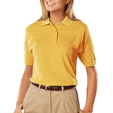 Women's 100 Egyptian Ringspun Cotton Polo Yellow Thumbnail