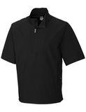 Men's Cutter & Buck WeatherTec Short Sleeve Summit 1/2-Zip Black Thumbnail