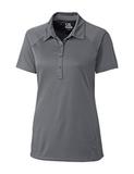 Women's Cutter & Buck DryTec Lacey Polo Shirt Elemental Gray Thumbnail