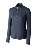 Women's Cutter & Buck Madeline 1/2-Zip Mock Turtleneck Liberty Navy Thumbnail