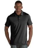 Antigua Quest Polo Shirt Black with White Thumbnail