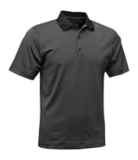 Men's Mini Stripe Polo Black with Charcoal Thumbnail