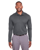 Under Armour Mens Corporate Long-Sleeve Performance Polo Graphite Thumbnail