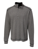 Men's Cutter & Buck Big & Tall Overtime Pullover Charcoal Heather with Black Thumbnail
