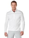 Callaway Men's Long Sleeve 1/4 Zip Mock Pullover White Thumbnail