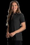 Women's Greg Norman X-Lite 50 Solid Woven Polo Black Thumbnail